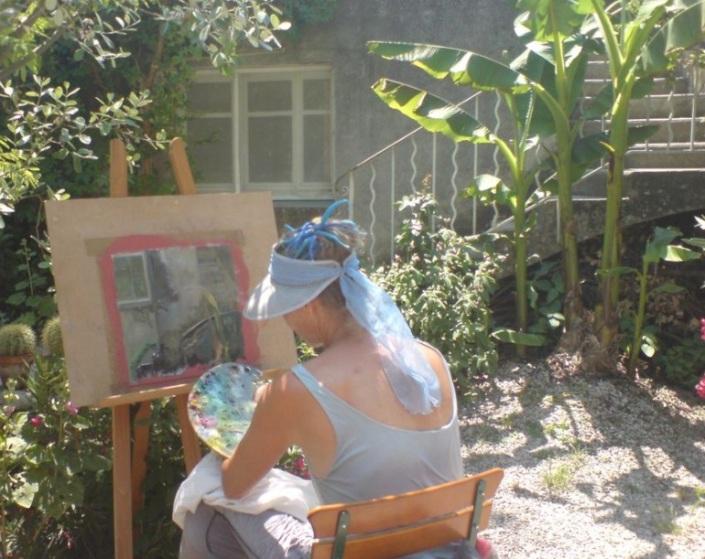 Peinture, en été