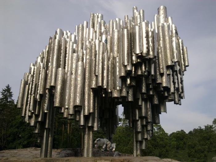 Statue érigée dans le Parc Sibelius à Helsinki en Finlande