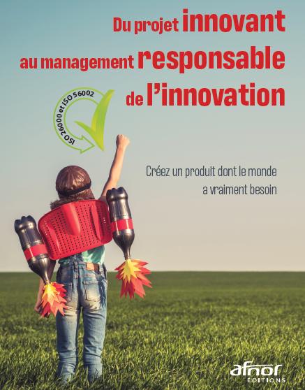 """Couverture du livre """"du projet innovant au management responsable de l'innovation"""""""